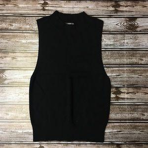Express Black Sleeveless Knit Top Size Small